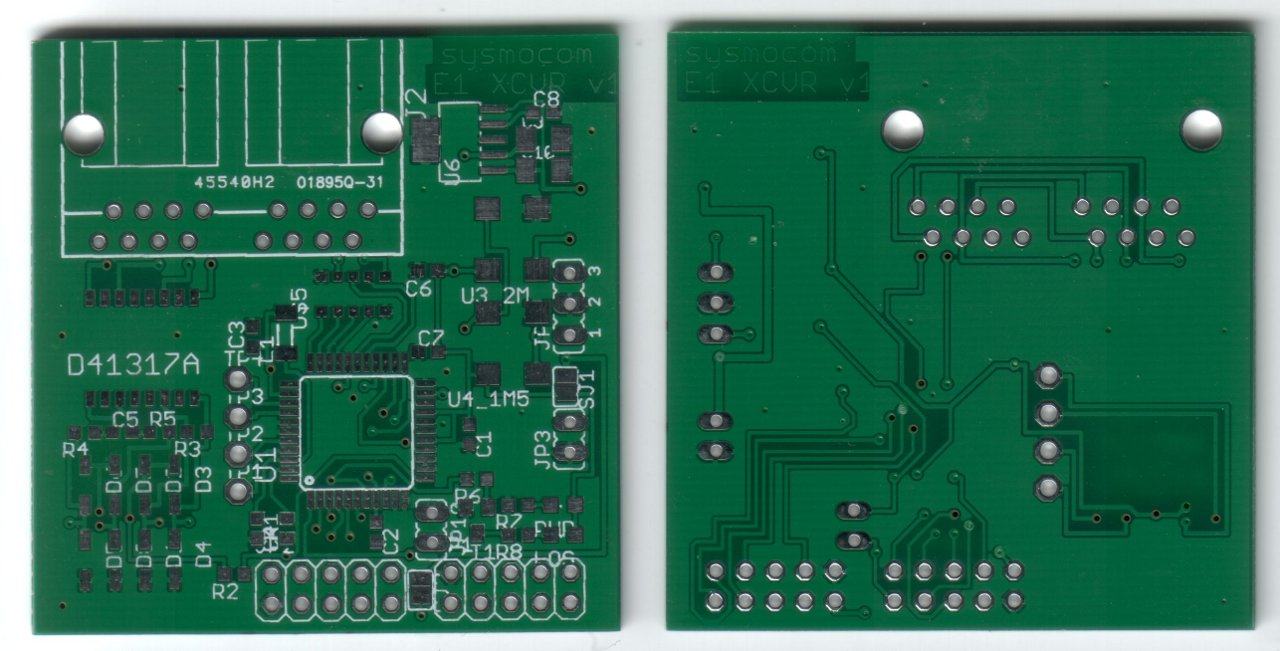 PCB scans of front and back side