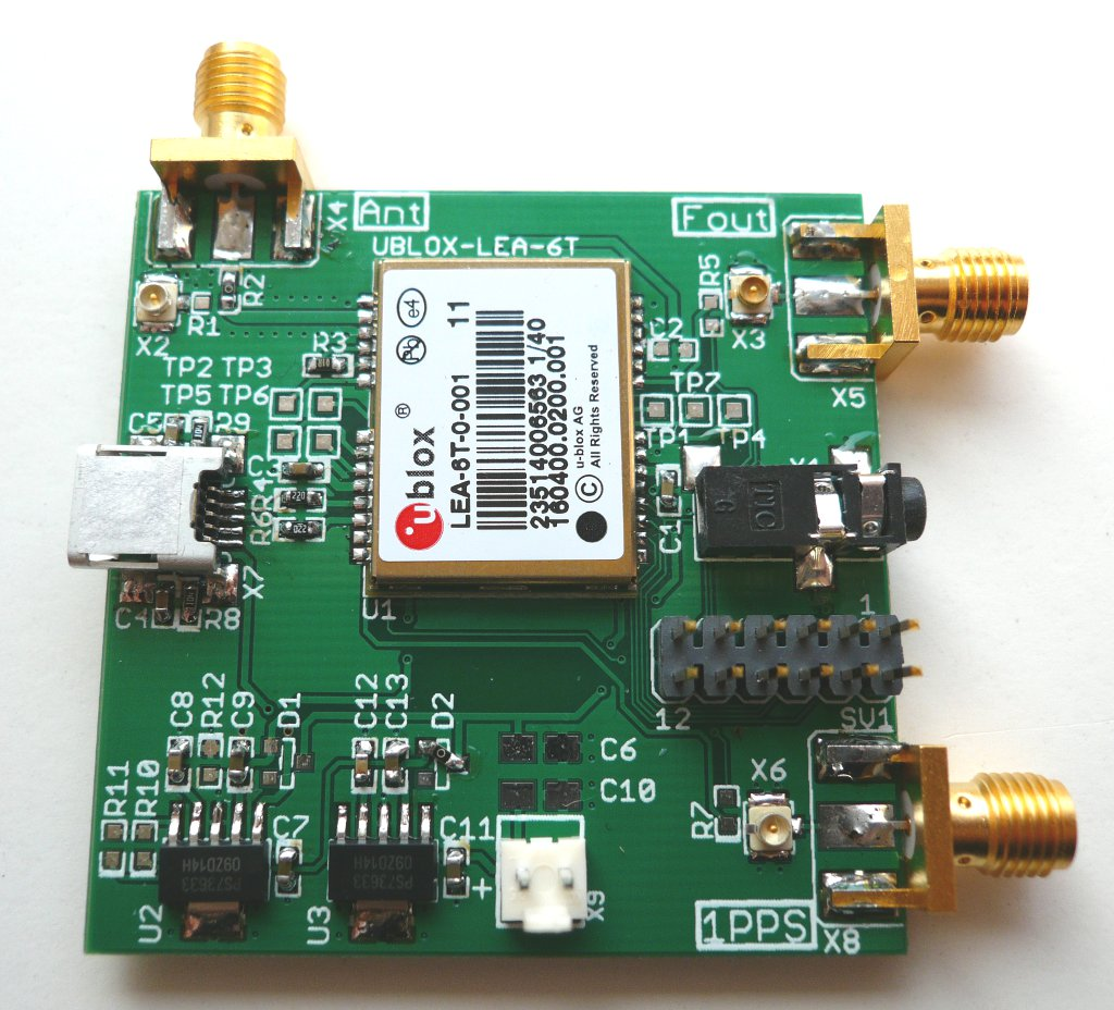 photograph of the assembled osmo-lea6t-gps board